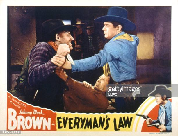 Everyman's Law lobbycard Slim Whitaker Frank Campeau Johnny Mack Brown 1936