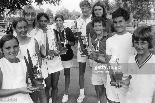 Everyone A Winner In Denver Post Tennis Championships The 10 individual winners in 1972 Metropolitan Junior Tennis Championships completed Friday are...