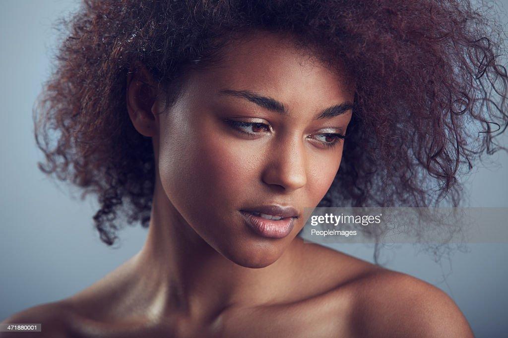 Everyone envies her hair : Stock Photo