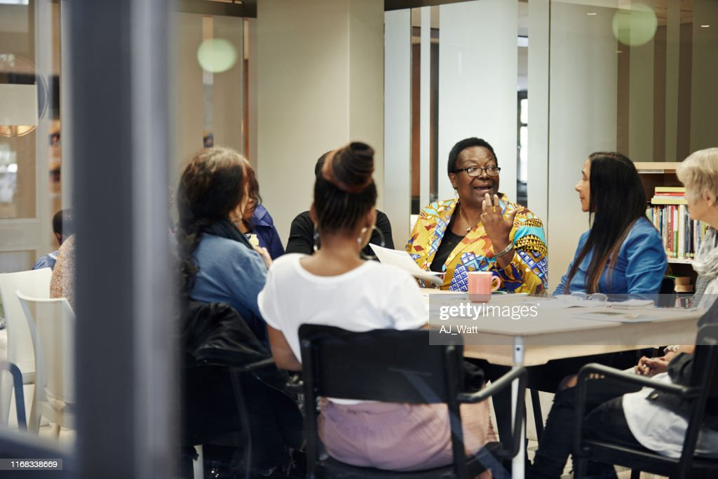 Everyone gets a chance to speak : Stock Photo