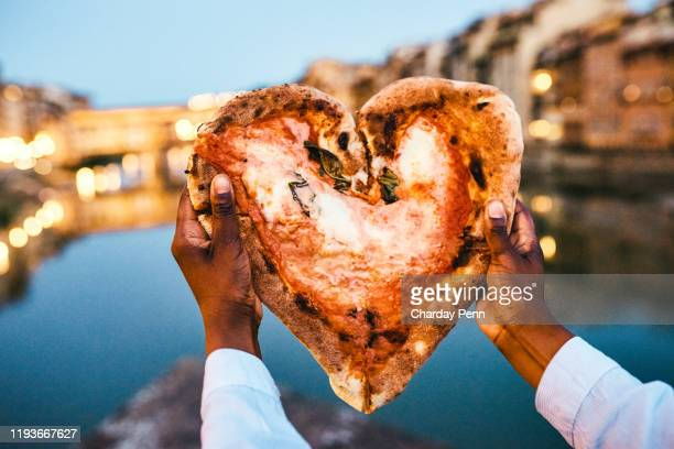 everyone loves pizza - florence italy stock pictures, royalty-free photos & images