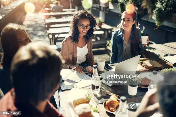 everything is better over lunch - outdoors stock pictures, royalty-free photos & images