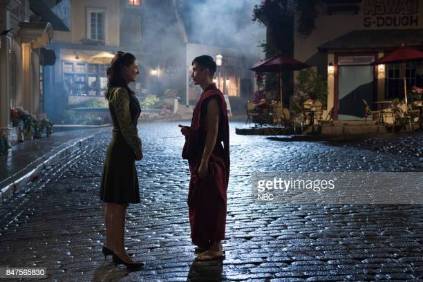 PLACE Everything is Great Episode 201 Pictured D'Arcy Carden as Janet Manny Jacinto as Jianyu