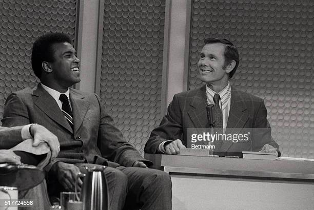 "Everything is rosy again with Muhammad Ali and Johnny Carson as they gag it up during the ""Tonight Show"" here March 24th. Carson said he would never..."