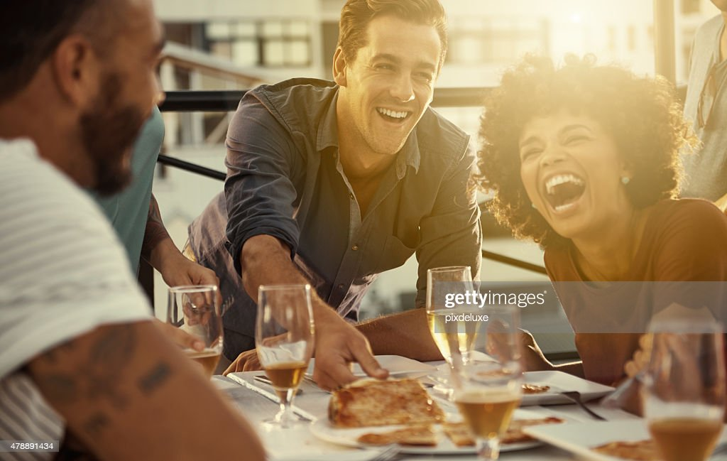 Everything's funnier when you're with your best friends : Stock Photo