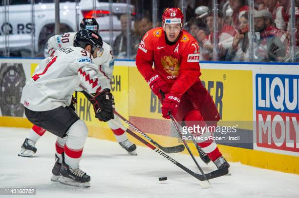 Evgeni Malkin in action during the 2019 IIHF Ice Hockey World Championship Slovakia group B game between Russia and Austria at Ondrej Nepela Arena on...