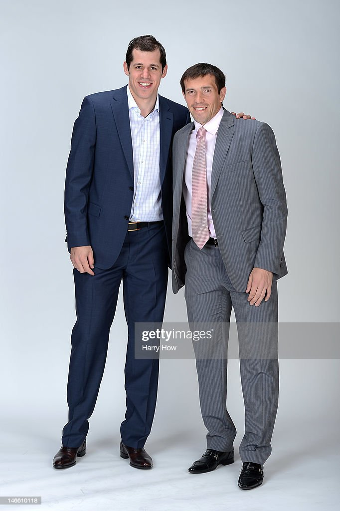 Evgeni Malkin of the Pittsburgh Penguins poses with Pavel Datsyuk of the Detroit Red Wings for a portrait during the 2012 NHL Awards at the Encore Theater at the Wynn Las Vegas on June 20, 2012 in Las Vegas, Nevada.