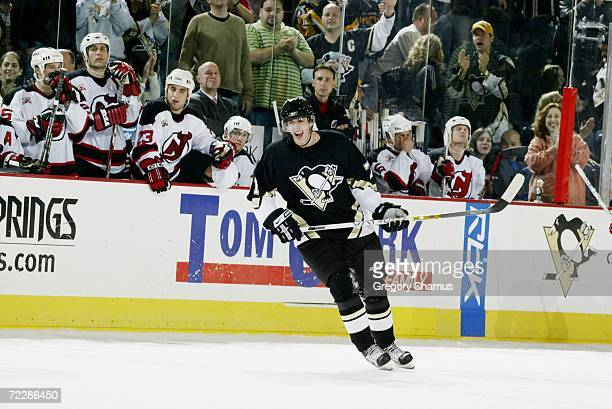 Evgeni Malkin of the Pittsburgh Penguins skates against the New Jersey Devils on October 18 2006 at Mellon Arena in Pittsburgh Pennsylvania The...