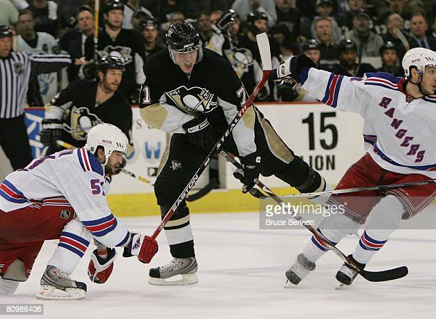 Evgeni Malkin of the Pittsburgh Penguins skates against the New York Rangers during game five of the Eastern Conference Semifinals of the 2008 NHL...
