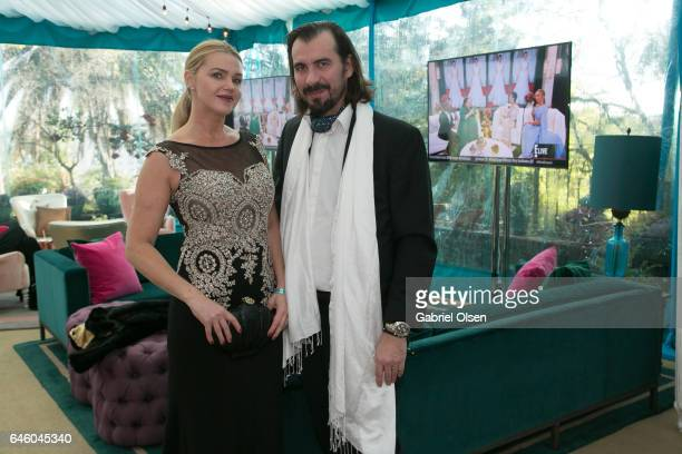 Evgenia Lorcy and her husband Patrick Lorcy attend the Circus Magazine Oscars Celebration hosted by Steve Shaw and Jonas Tahlin CEO Absolut Elyx...