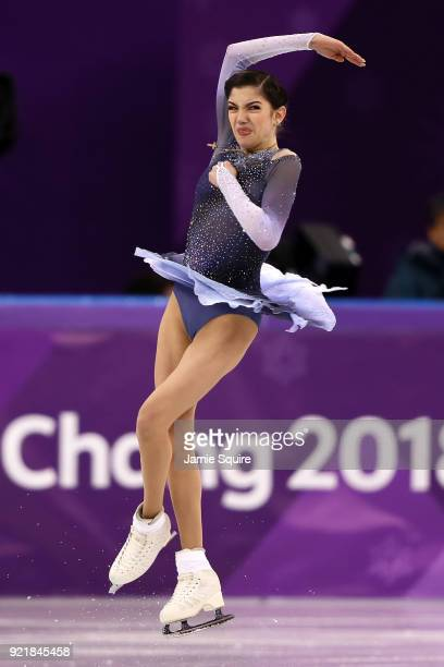 Evgenia Medvedeva of Olympic Athlete from Russia competes during the Ladies Single Skating Short Program on day twelve of the PyeongChang 2018 Winter...