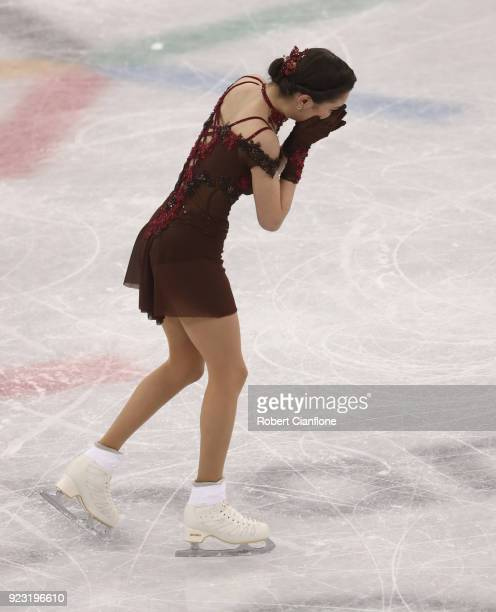 Evgenia Medvedeva of Olympic Athlete from Russia competes during the Ladies Single Skating Free Program on day fourteen of the PyeongChang 2018...