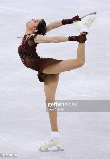 Evgenia Medvedeva of Olympic Athlete from Russia competes during the Figure Skating Ladies Free program on day fourteen of the PyeongChang 2018...