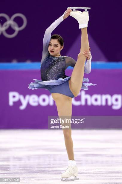 Evgenia Medvedeva of Olympic Athlete from Russia competes in the Figure Skating Team Event – Ladies' Short Program on day two of the PyeongChang 2018...
