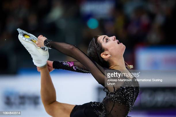 Evgenia Medvedeva of Russia competes in the Ladies Free Skating during day 2 of the ISU Grand Prix of Figure Skating Internationaux de France at...