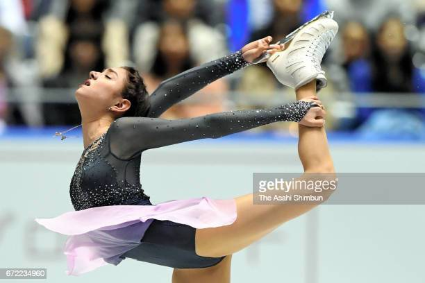 Evgenia Medvedeva of Russia competes in the Ladies Singles Free Skating during day three of the ISU World Team Trophy at Yoyogi Nationala Gymnasium...