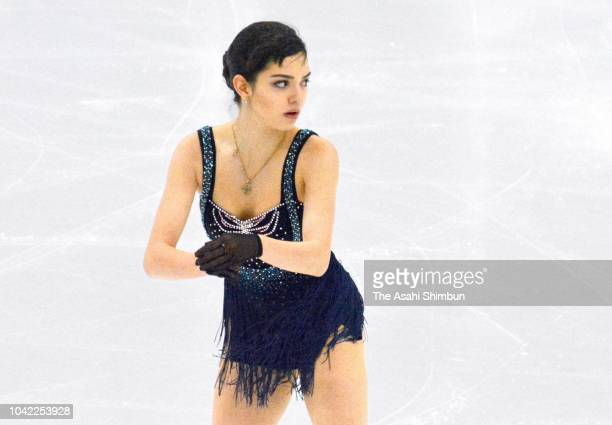 Evgenia Medvedeva of Russia competes in the Ladies Singles Short Skating during the Autumn Classic at the Sixteen Mile Sports Complex on September 20...