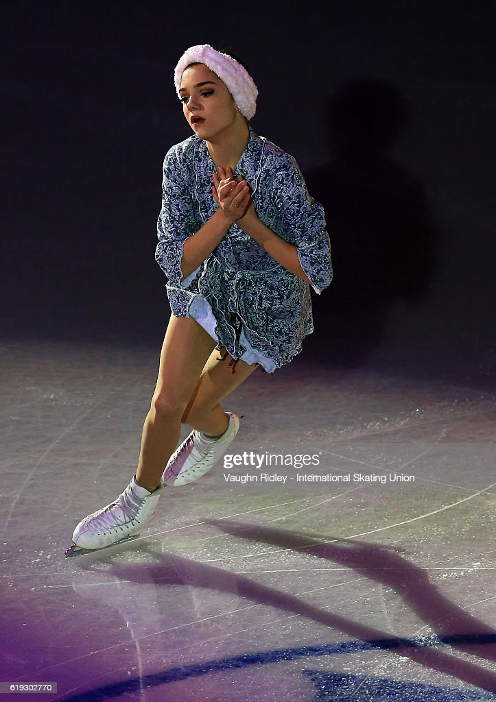 Evgenia Medvedeva of Russia performs in the Exhibition Gala during the ISU Grand Prix of Figure Skating Skate Canada International at Hershey Centre on October 30, 2016 in Mississauga, Canada.