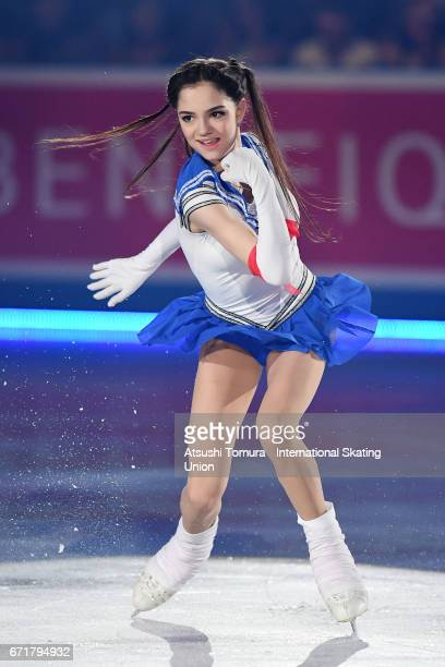 Evgenia Medvedeva of Russia performs in the gala exhibition during the day 4 of the ISU World Team Trophy 2017 on April 23 2017 in Tokyo Japan