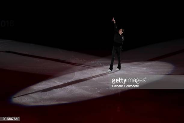 Evgenia Medvedeva of the Olympic Athletes of Russia performs during the Figure Skating Gala Exhibition on day 16 of the PyeongChang 2018 Winter...