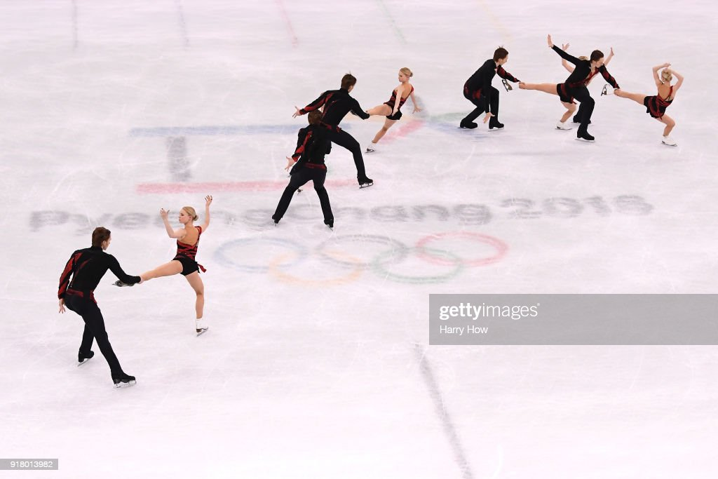 Evgenia Tarasova and Vladimir Morozov of Olympic Athlete from Russia compete during the Pair Skating Short Program on day five of the PyeongChang 2018 Winter Olympics at Gangneung Ice Arena on February 14, 2018 in Gangneung, South Korea.