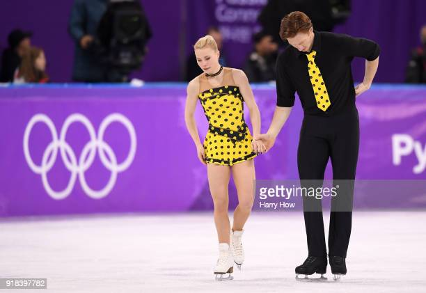 Evgenia Tarasova and Vladimir Morozov of Olympic Athlete from Russia compete during the Pair Skating Free Skating at Gangneung Ice Arena on February...