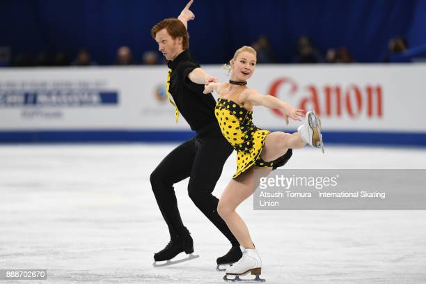 Evgenia Tarasova and Vladimir Morozov of Russia compete in the Pairs free skating during the ISU Junior Senior Grand Prix of Figure Skating Final at...
