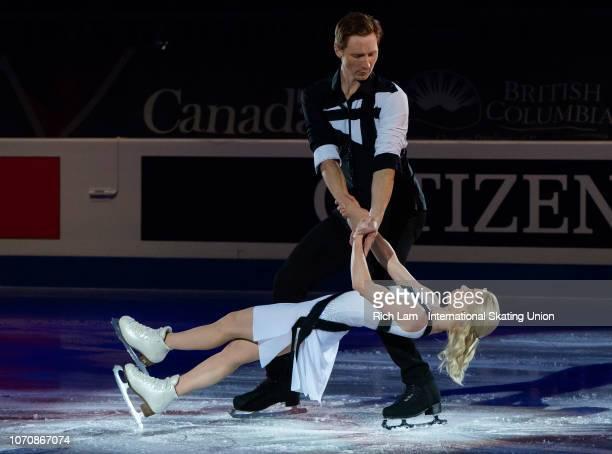 Evgenia Tarasova and Vladimir Morozov of Russia performs at the Gala Performance on December 2018 at the ISU Junior Senior Grand Prix of Figure...