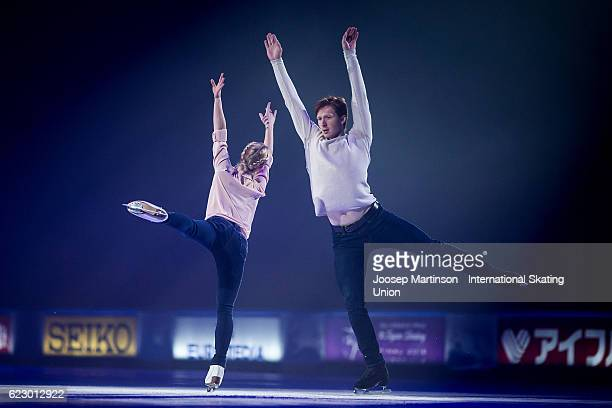 Evgenia Tarasova and Vladimir Morozov of Russia performs during Gala Exhibition on day three of the Trophee de France ISU Grand Prix of Figure...