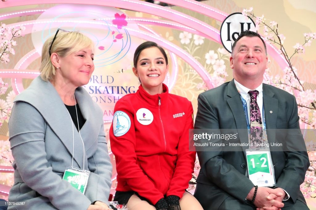 https://media.gettyimages.com/photos/evgeniamedvedeva-of-russia-is-seen-as-she-wait-for-her-score-at-the-picture-id1137545287