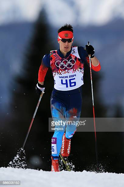 Evgeniy RUS Langlauf 15 KM ski cross country men in Laura Cross Country Biathlon Centre olympic winter games 2014 sochi olympische Spiele...