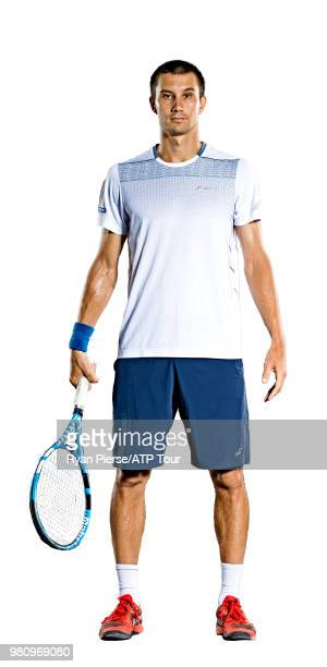Evgeny Donskoy of Russia poses for portraits during the Australian Open at Melbourne Park on January 13 2018 in Melbourne Australia