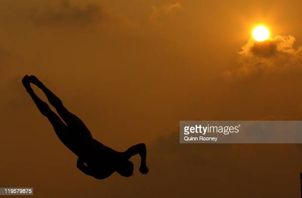 Evgeny Kuznetsov of Russia competes in the Men's 3m Springboard Final during Day Seven of the 14th FINA World Championships at the Oriental Sports...