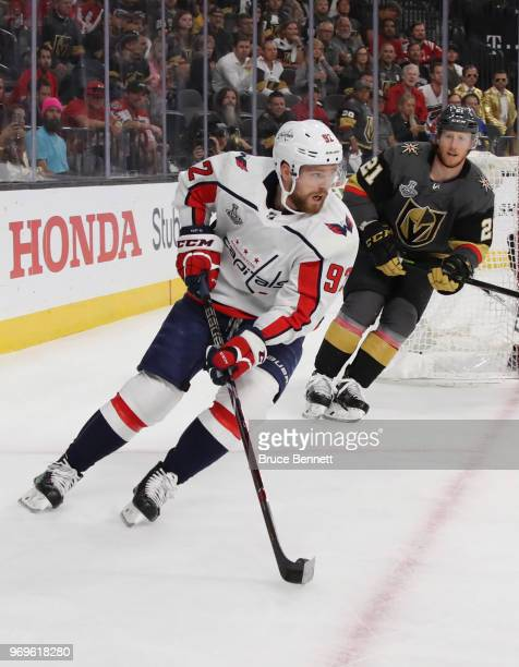 Evgeny Kuznetsov of the Washington Capitals skates against the Vegas Golden Knights during the first period in Game Five of the 2018 NHL Stanley Cup...