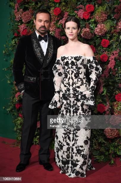 Evgeny Lebedev and Claire Foy attend the Evening Standard Theatre Awards 2018 at Theatre Royal Drury Lane on November 18 2018 in London England