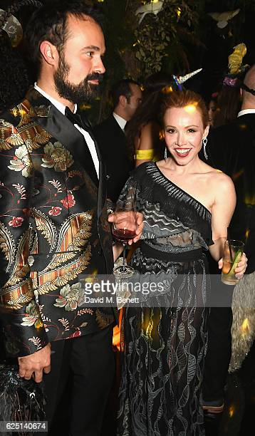 Evgeny Lebedev and Daisy Lewis attend The Animal Ball 2016 presented by Elephant Family at Victoria House on November 22 2016 in London England