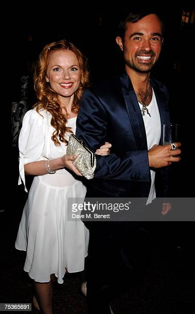 Evgeny Lebedev and Geri Halliwell attend the Serpentine Summer Party at The Serpentine Gallery on July 11 2007 in London England