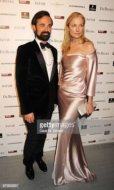Evgeny Lebedev and Joely Richardson arrive at the Love Ball London at the Roundhouse on February 23 2010 in London England