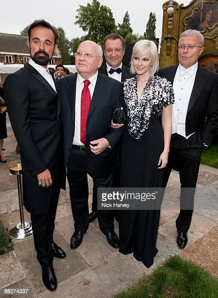 Evgeny Lebedev Mikhail Gorbachev Anastasia Virganskaya and Alexander Lebedev arrive at the Fourth Annual Fundraising Gala Dinner for the Raisa...