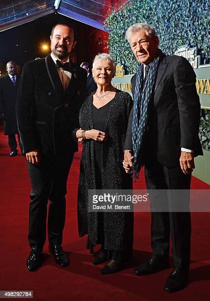 Evgeny Lebedev Owner of The London Evening Standard Dame Judi Dench and Sir Ian McKellen arrive at The London Evening Standard Theatre Awards in...