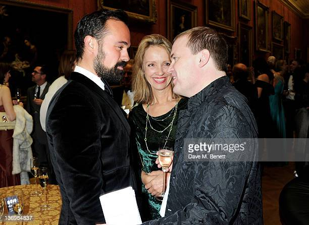 Evgeny Lebedev Sabrina Guinness and Harry Dalmeny attend the official UK launch of the Gift Of Life Foundation at The Wallace Collection on January...