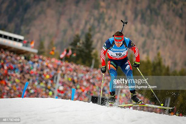 Evgeny Ustyugov of Russia takes 3rd place during the IBU Biathlon World Cup Men's 20km on January 11 2014 in Ruhpolding Germany