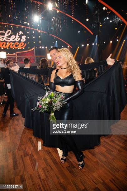 "Evgeny Vinokurov and Evelyn Burdecki are seen during the 10th show of the 12th season of the television competition ""Let's Dance"" on May 31, 2019 in..."