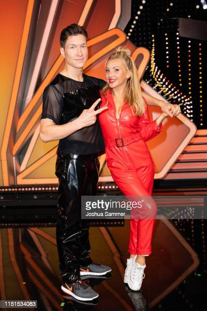 Evgeny Vinokurov and Evelyn Burdecki are seen during the 9th show of the 12th season of the television competition Let's Dance on May 24 2019 in...