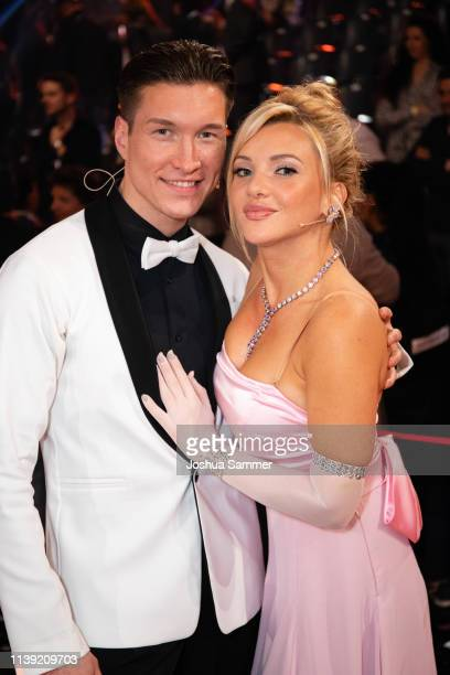 Evgeny Vinokurov and Evelyn Burdecki during the 2nd show of the 12th season of the television competition Let's Dance on March 29 2019 in Cologne...