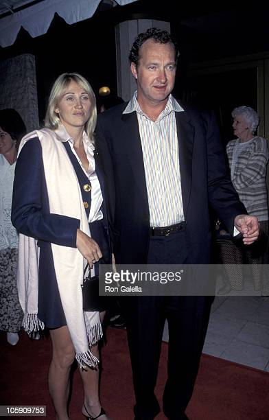 Evi Quaid and Randy Quaid during 1995 Vanity Fair Oscar Party Arrivals at Morton's Restaurant in West Hollywood California United States