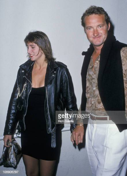 Evi Quaid and Randy Quaid during Randy Quaid Sighting at Spago's Restaurant in Hollywood August 3 1988 at Spago's Restaurant in Hollywood California...