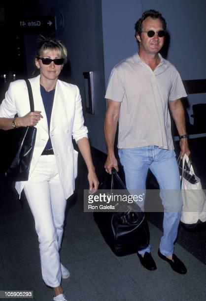 Evi Quaid and Randy Quaid during Randy Quaid Sighting at the Los Angeles International Airport August 12 1994 at Los Angeles International Airport in...