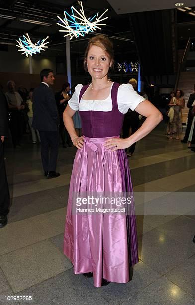 Evi Sachenbacher Stehle attends the Bavarian Sport Award 2010 at the International Congress Center Munich on July 17 2010 in Munich Germany