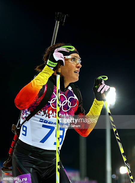 Evi SachenbacherStehle of Germany competes in the Women's 15 km Individual during day seven of the Sochi 2014 Winter Olympics at Laura Crosscountry...